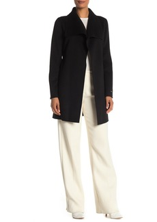 Tahari Ella Belted Wrap Wool Blend Coat