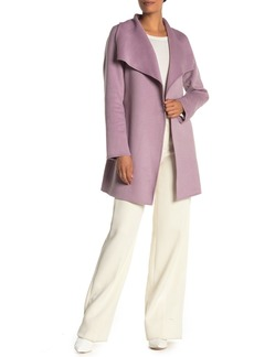 Tahari Ella Belted Wrap Wool Blend Coat