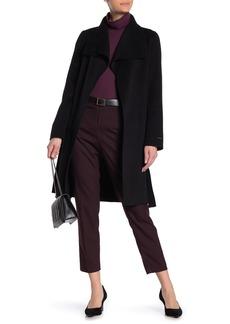 Tahari Ellie Wool Blend Wrap Coat