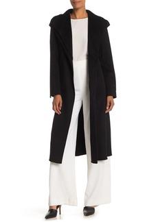 Tahari Elliot Shawl Collar Wool Blend Coat
