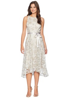 Tahari Embroidered Midi Dress