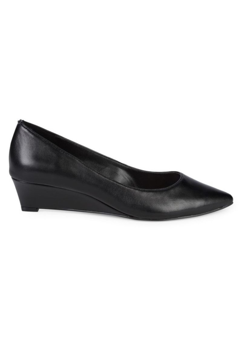 Tahari Eugenia Leather Wedge Pumps