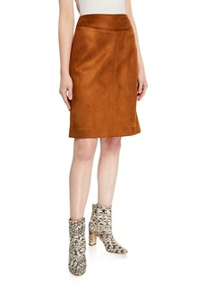 Tahari Faux Suede Pencil Skirt