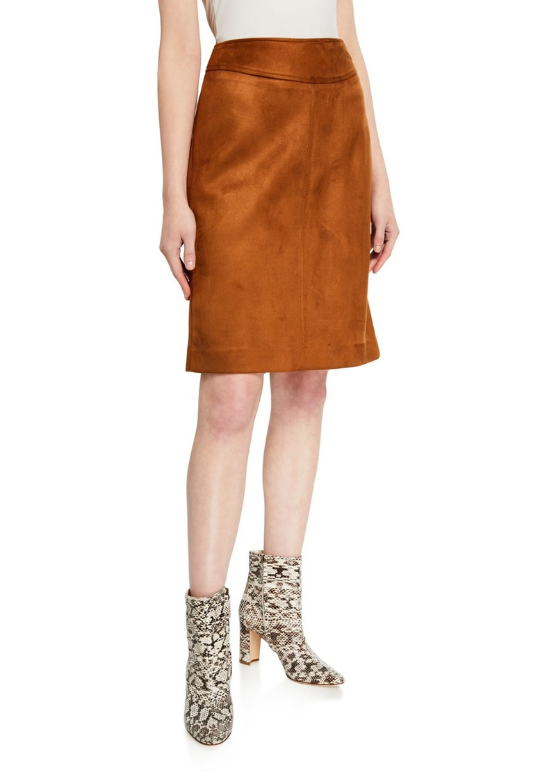 Tahari Faux Suede Pencil Skirt