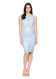 Tahari Fit To Body Chemical Lace Sheath Dress