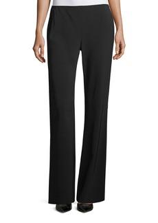 Flat-Front Wide-Leg Pants