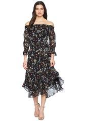 Tahari Floral Off the Shoulder Midi Shift Dress