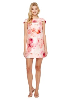 Tahari Floral Print A-Line Dress