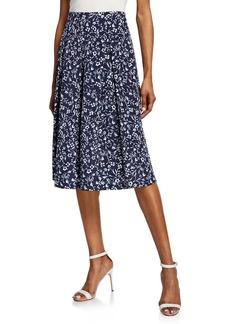 Tahari Floral-Print Fit-and-Flare Midi skirt