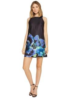 Tahari Floral Print Trapeze Dress