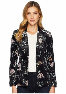 Tahari Floral Printed One-Button Jacket