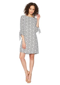 Tahari Georgette Printed Shift Dress