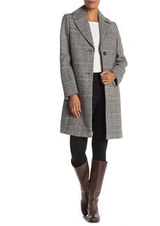 Tahari Glen Plaid Print Coat