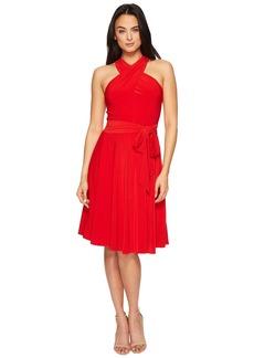 Tahari Halter Neck Jersey A-Line Dress