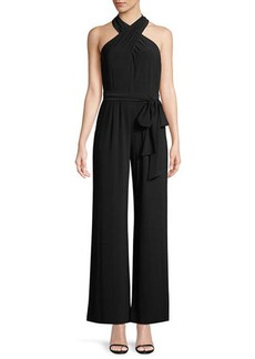 Tahari Halter-Neck Wide-Leg Jumpsuit