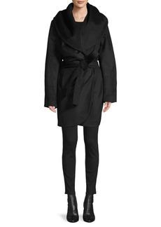 Tahari Hooded Wool-Blend Coat