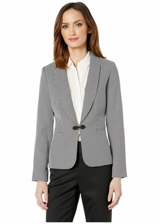 Tahari Houndstooth Jacket with Closure