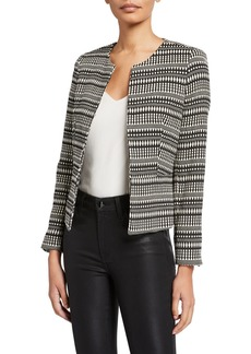 Tahari Jacquard Fly Away Jacket
