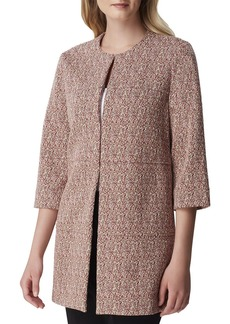 Tahari Knit 3/4-Sleeve Seam Detail Topper