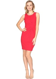 Tahari Knot Detail Scuba Crepe Sheath Dress