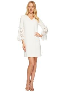 Tahari Lace Bell Sleeve Shift Dress