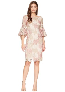 Tahari Lace Boat Neck Sheath Dress