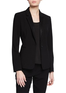 Tahari Lace Combo One-Button Jacket
