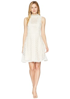 Tahari Lace Fit and Flare Dress