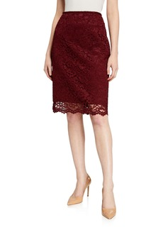 Tahari Lace Pencil Skirt
