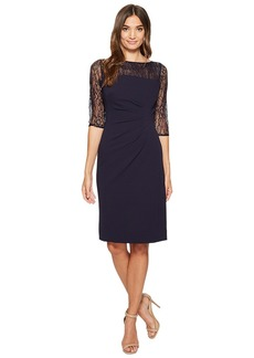 Tahari Lace Sleeve Sheath Dress