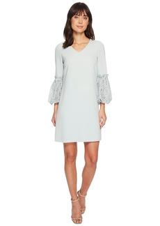 Tahari Lace Sleeve Shift Dress