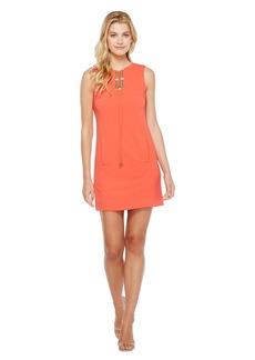 Tahari Lace-Up Shift Dress