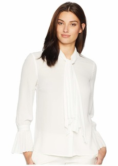Tahari Long Sleeve Blouse with Bell Sleeve