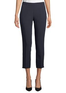 Tahari Lupe Crepe Straight-Leg Cropped Pants