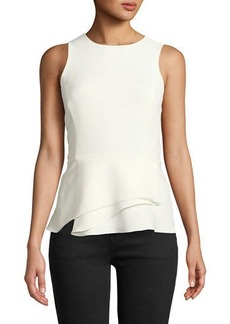 Tahari Lynzie Sleeveless Top with Folded Peplum