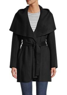 Tahari Marilyn Double-Face Wool-Blend Coat