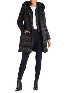 Tahari Mia Fitted Puffer Coat