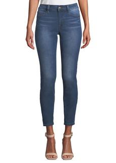 Tahari Mid-Rise Faded Skinny Ankle Jeans