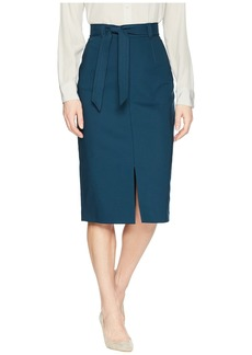 Tahari Midi Skirt with Belt