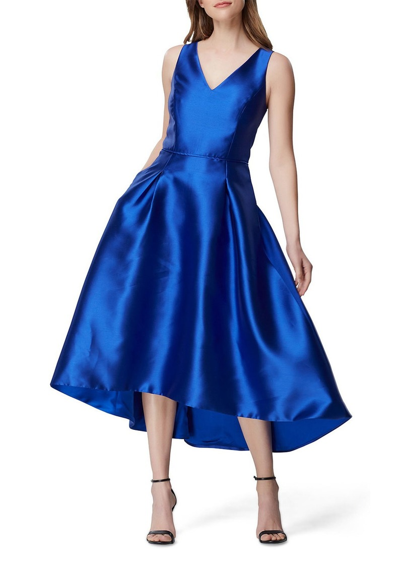 Tahari Mikado High-Low Cocktail Dress