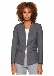Tahari Military Style Twill Jacket