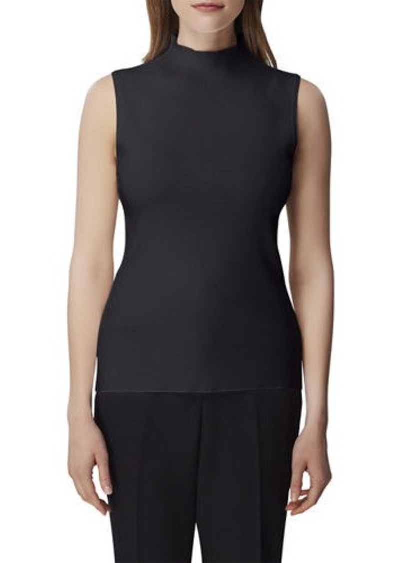 Tahari Mock-Neck Sleeveless Sweater