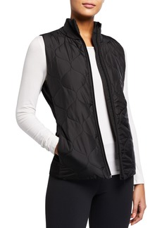 Tahari Nance Mix-Media Puffer Vest
