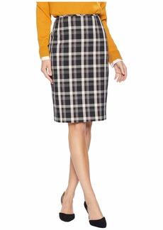 Tahari Novelty Plaid Skirt
