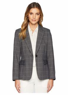 Tahari Novelty Windowpane Plaid Jacket