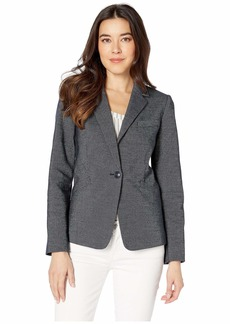 Tahari Novetly Stripe One-Button Jacket