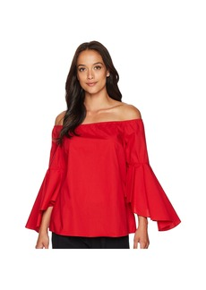 Tahari Off the Shoulder Blouse with Tulip Bell Sleeve