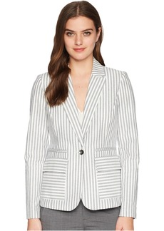 One-Button Striped Jacket