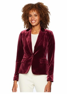 Tahari One-Button Velvet Jacket