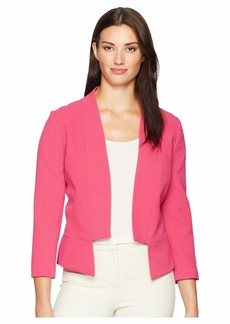 Tahari Open Crepe Collarless Jacket